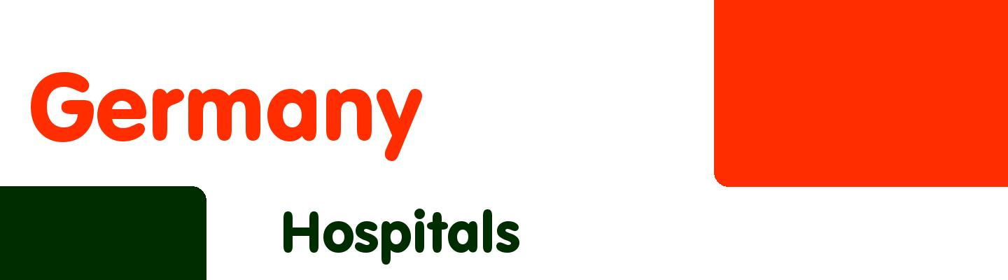 Best hospitals in Germany - Rating & Reviews