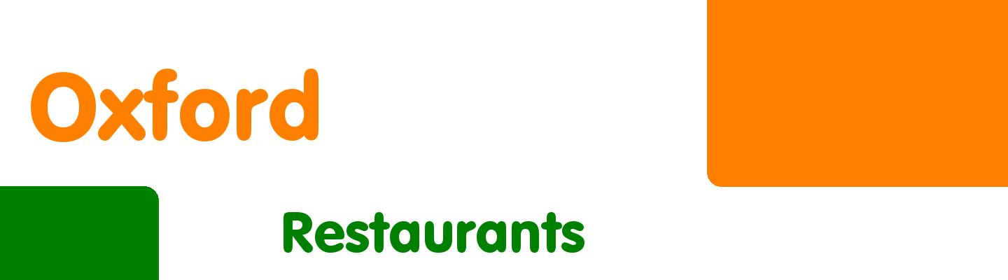 Best restaurants in Oxford - Rating & Reviews